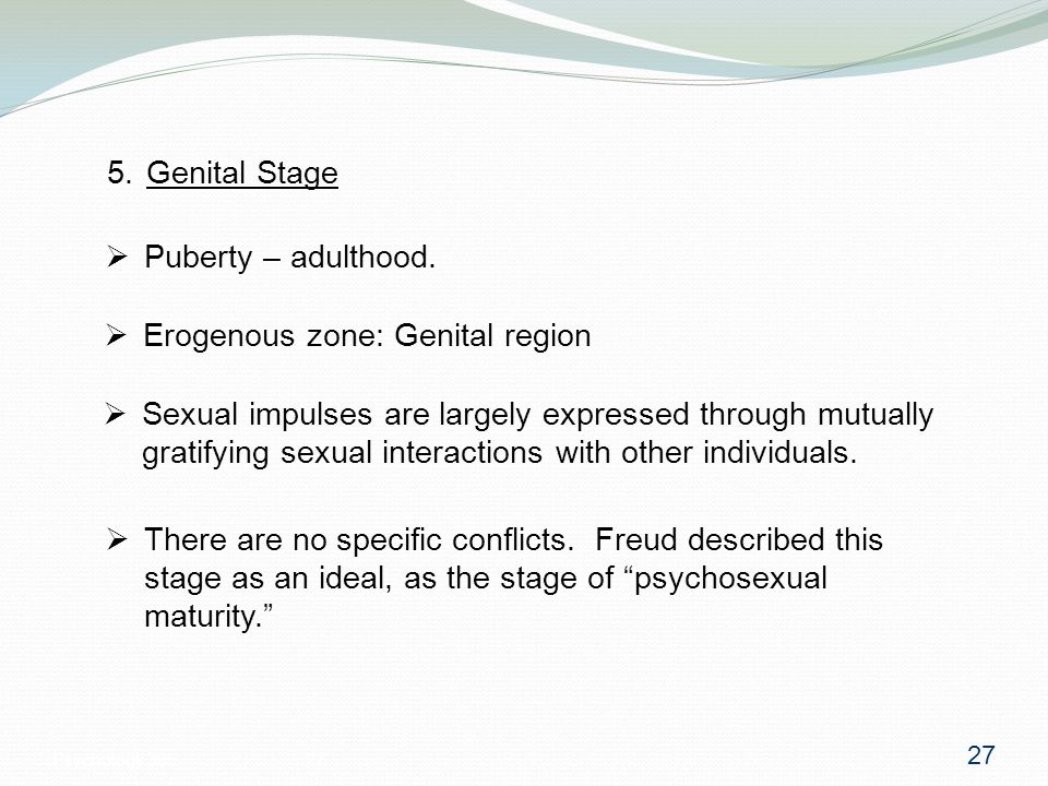 Psychosexual maturity definition