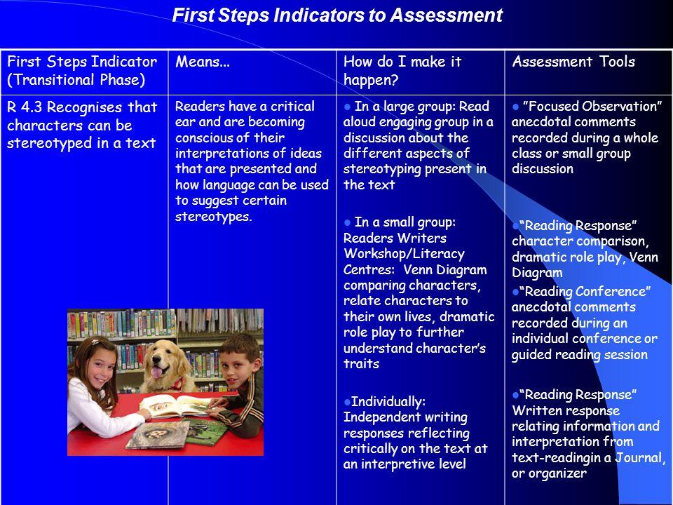 first steps assessment