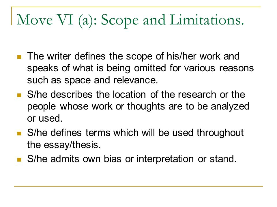 Scope and delimitation of the study thesis sample book report.