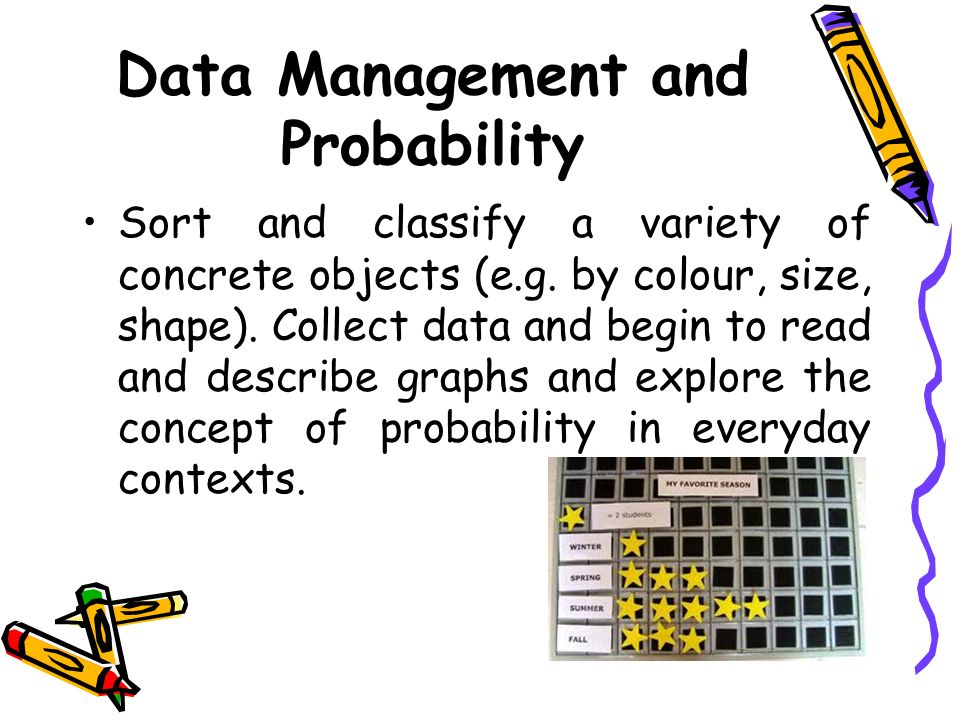 Data Management and Probability Sort and classify a variety of concrete objects (e.g.