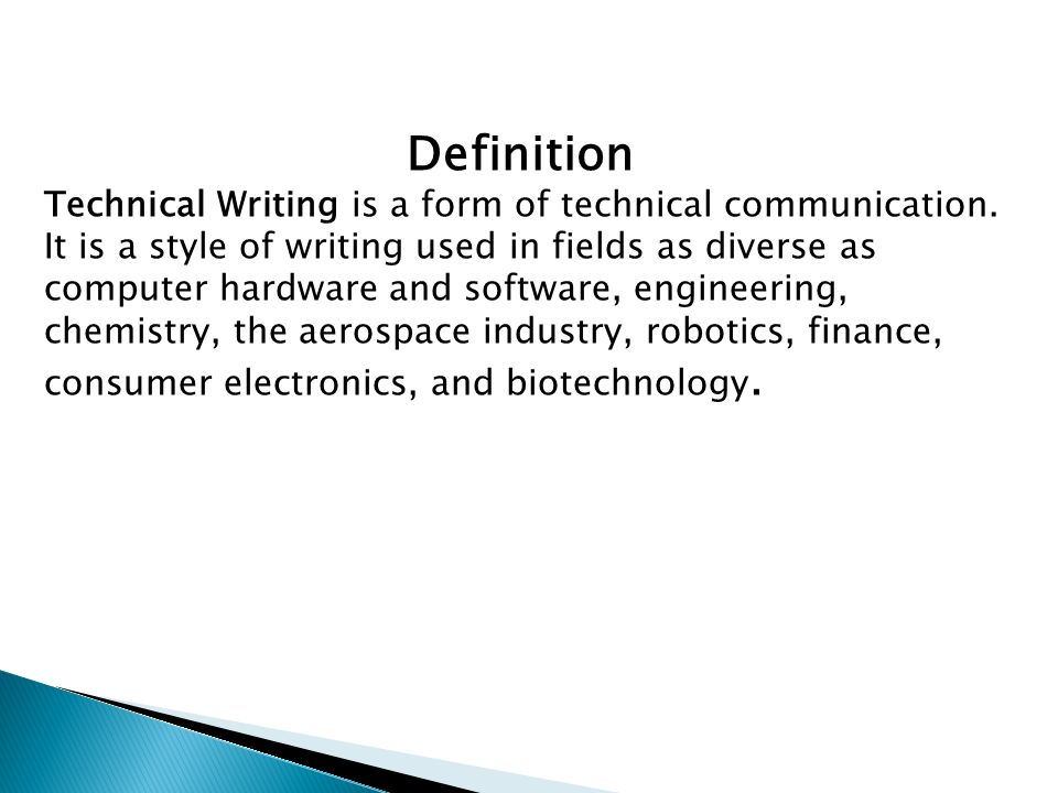 what is technical communication in english