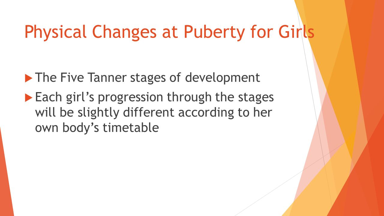 stages of puberty