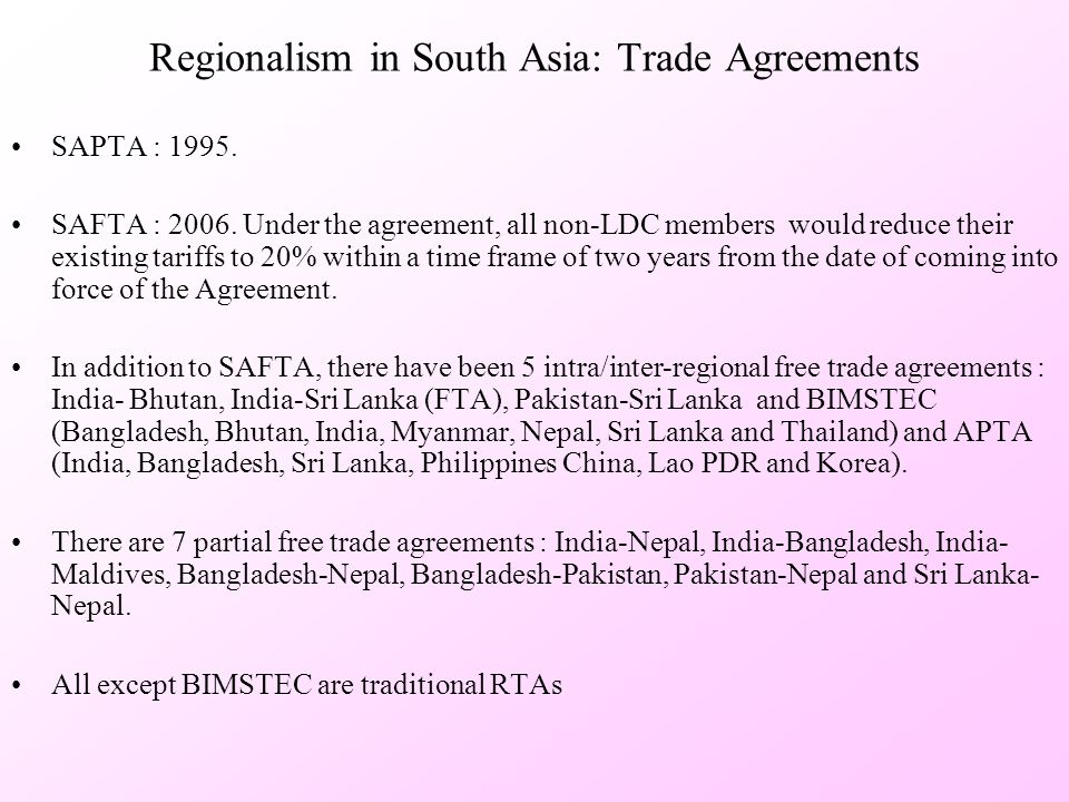 Intra Regional Fdi Flows In South Asia Current Status And Future