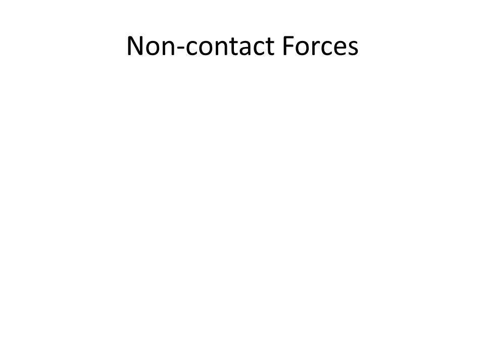 Non-contact Forces