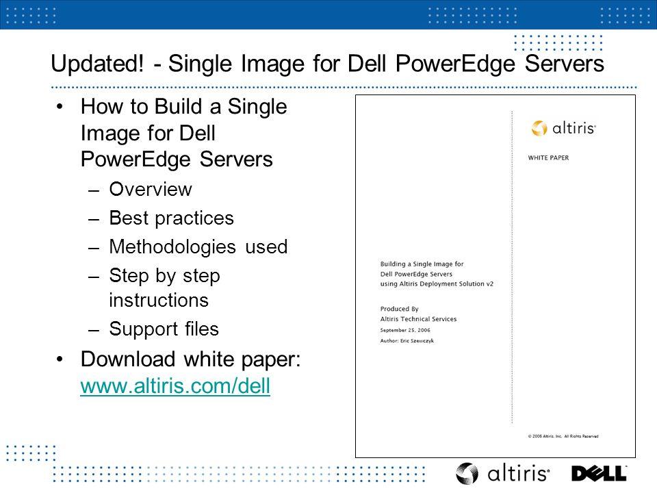 Altiris Deployment Solution for Dell Servers v2 0 SP1  - ppt download