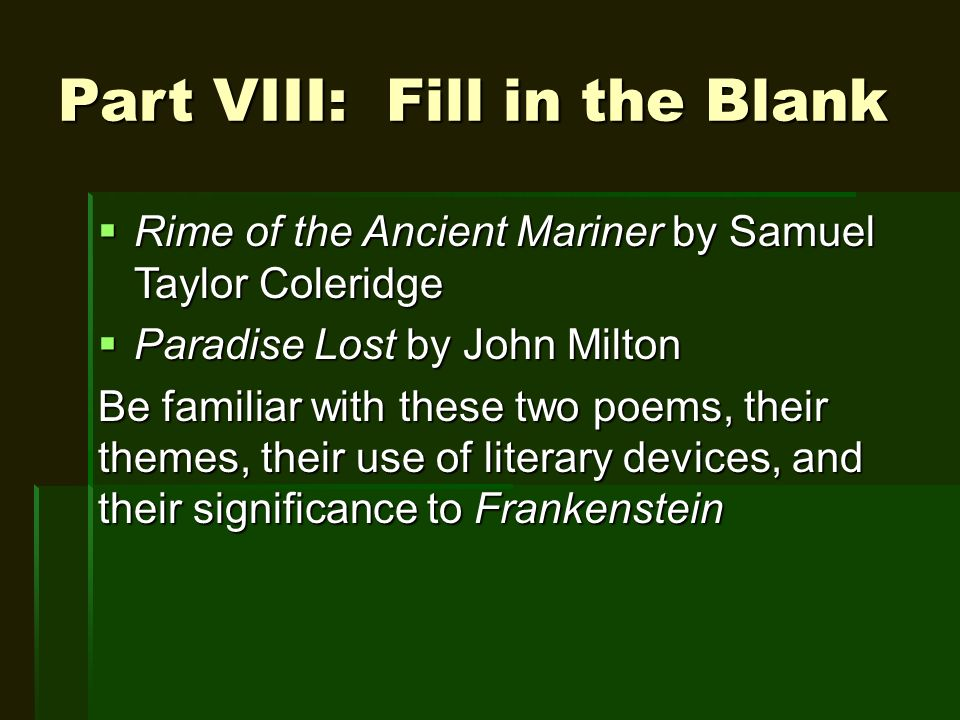 literary devices in paradise lost
