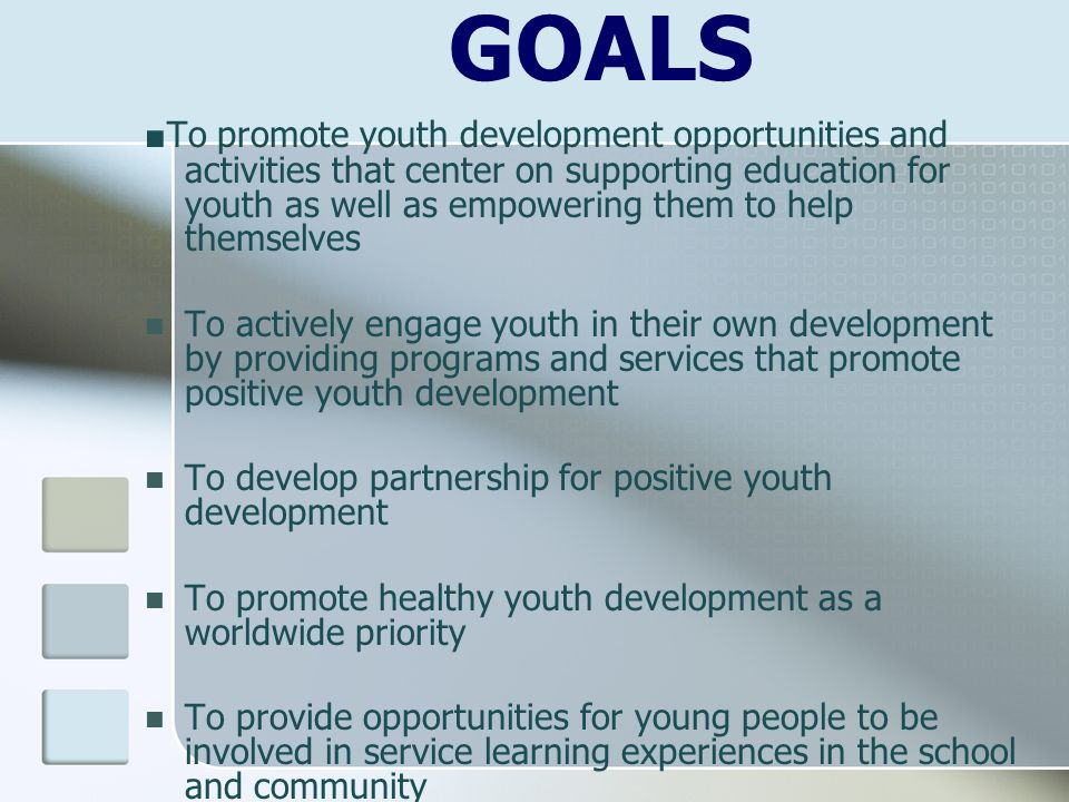 youth leadership and development essay Sample of the youth leaders and representatives essay  in development of a youth policy that will  youths to take part in leadership positions and.