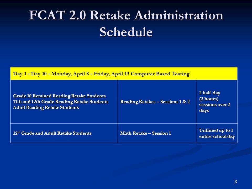 Florida Comprehensive Assessment Test FCAT FCAT 2 0