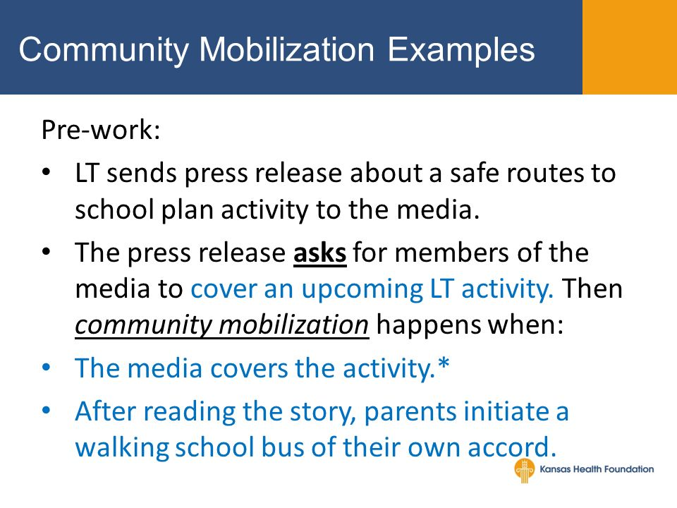 community mobilization examples
