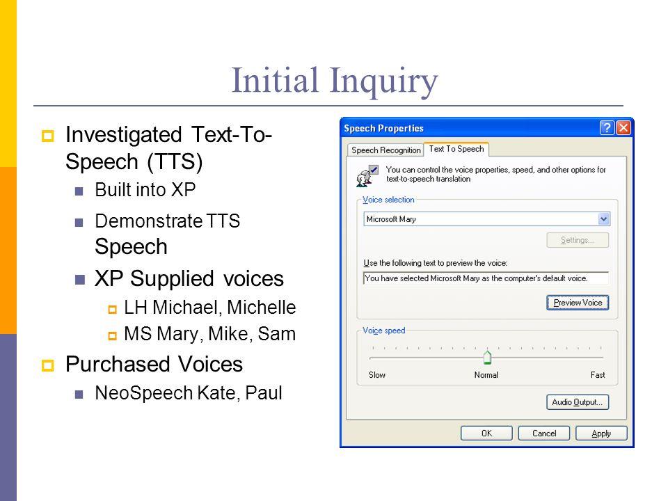 UWSP Web Speech Research Group Joe Frost Mark Stenerson