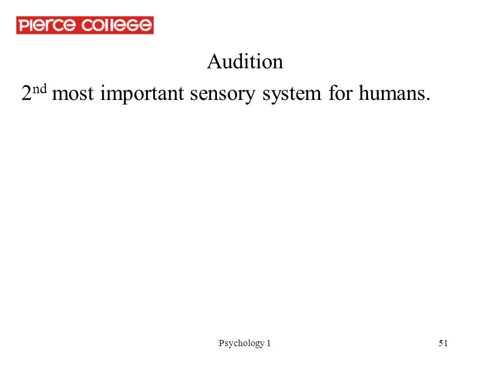 audition psychology