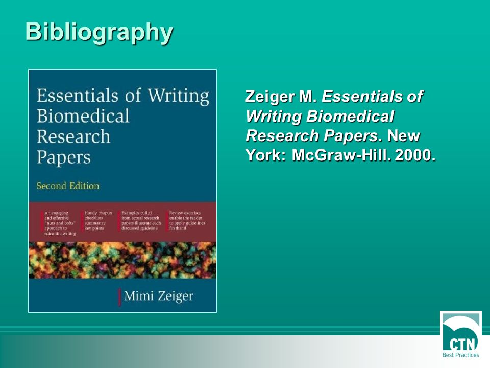 zeiger m essentials of writing biomedical research papers Provides immediate help for anyone preparing a biomedical paper by givin specific advice on organizing the components of the paper, effective writing techniques, writing an effective results sections, documentation issues, sentence structure and much more the new edition includes new examples from.