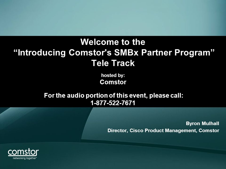 Welcome To The Introducing Comstor S Smbx Partner Program Tele