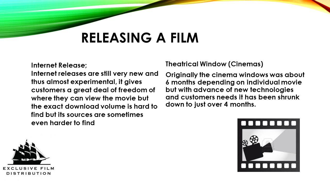 FILM DISTRIBUTION By: Bart Peter  F Film Distributor: A film