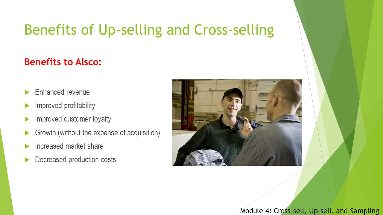 Selling on your route Module 4: Cross-sell, Up-sell, and