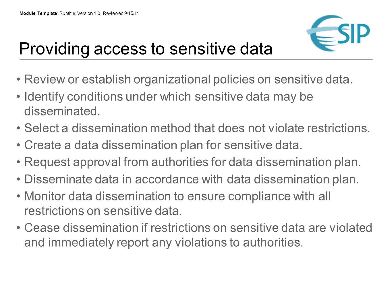 Providing access to your data Robert R. Downs, PhD Socioeconomic ...