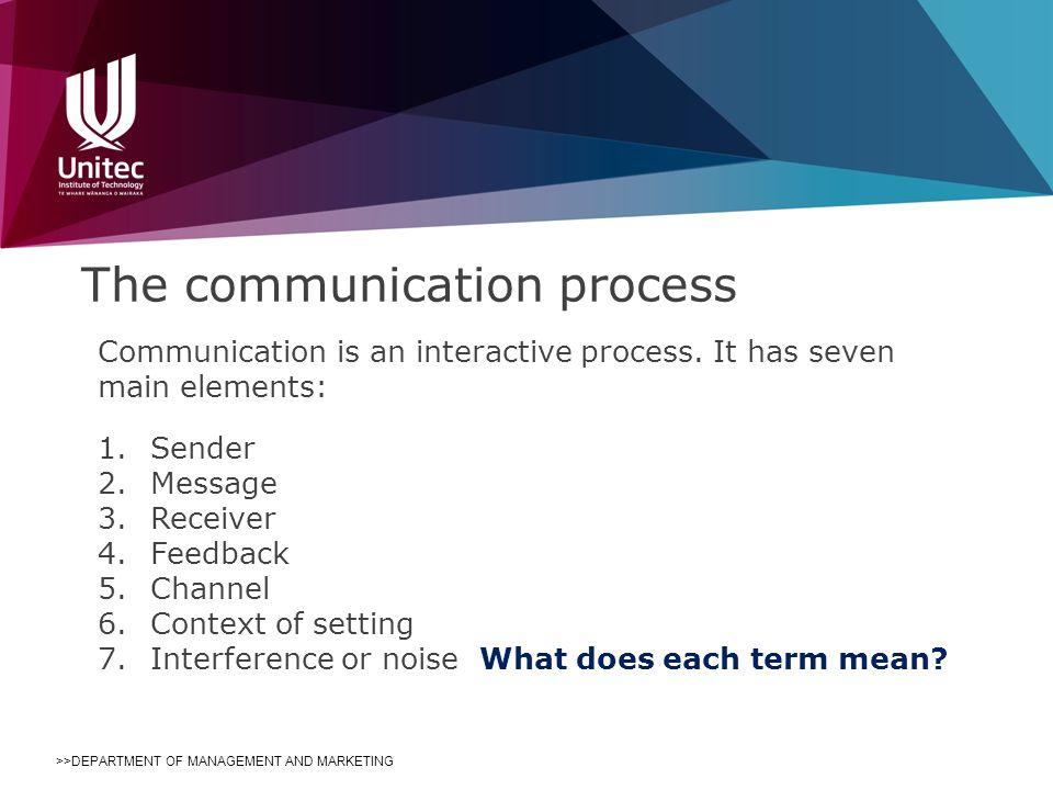 seven elements of communication