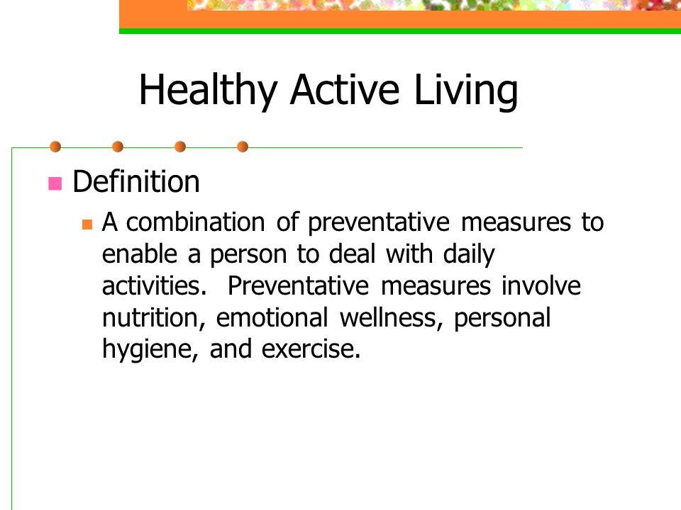 PPL 10M Understanding the Concepts of Healthy Active Living