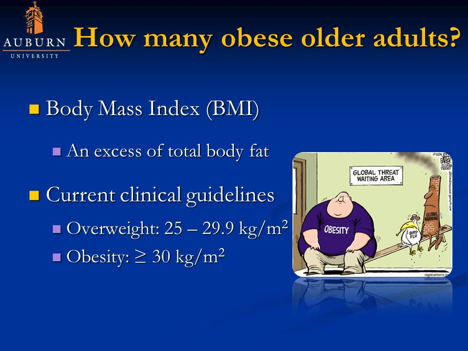 How many obese older adults.