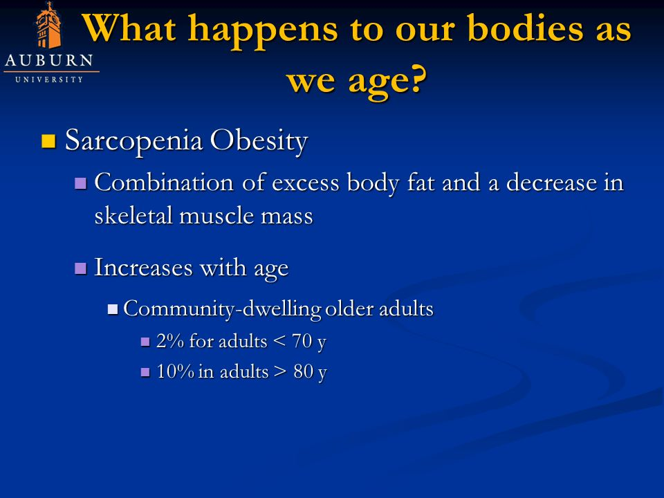 What happens to our bodies as we age.