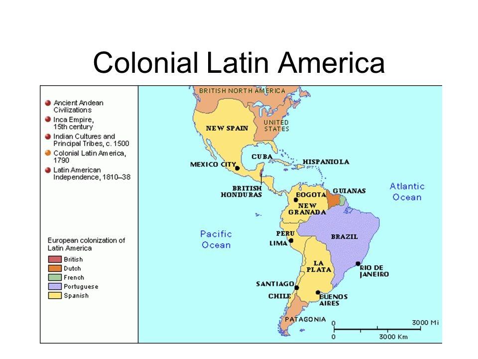 Colonial South America Map.Major Battles And Campaigns During Spanish South American