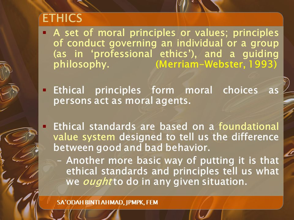 differentiate between ethical and professional behaviour