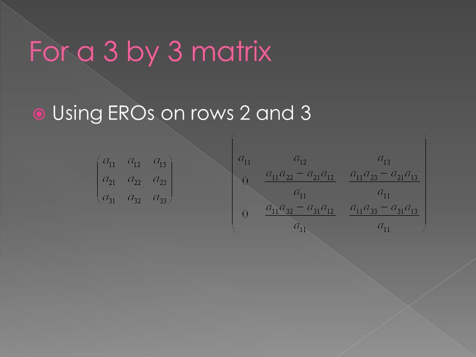  Using EROs on rows 2 and 3