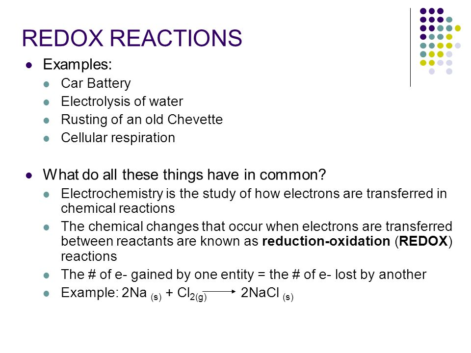 Electrochemistry Electrons in Chemical Reactions  - ppt download