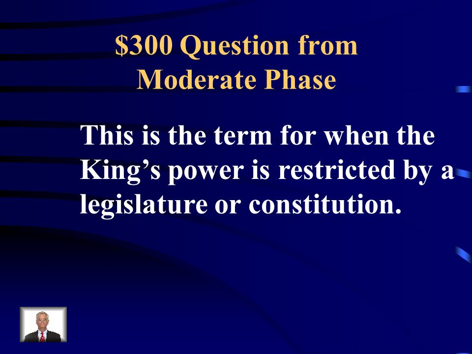 $200 Answer from Moderate Phase What is to create a constitution
