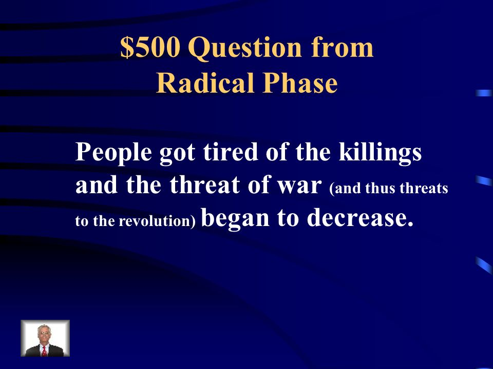 $400 Answer from Radical Phase What was the Committee of Public Safety