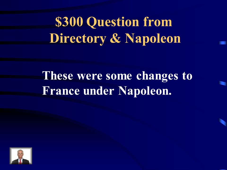 $200 Answer from Directory & Napoleon What are an unpopular gov't, setbacks for the French Army, more debt, lack of food (bread riots), plots against the gov't.