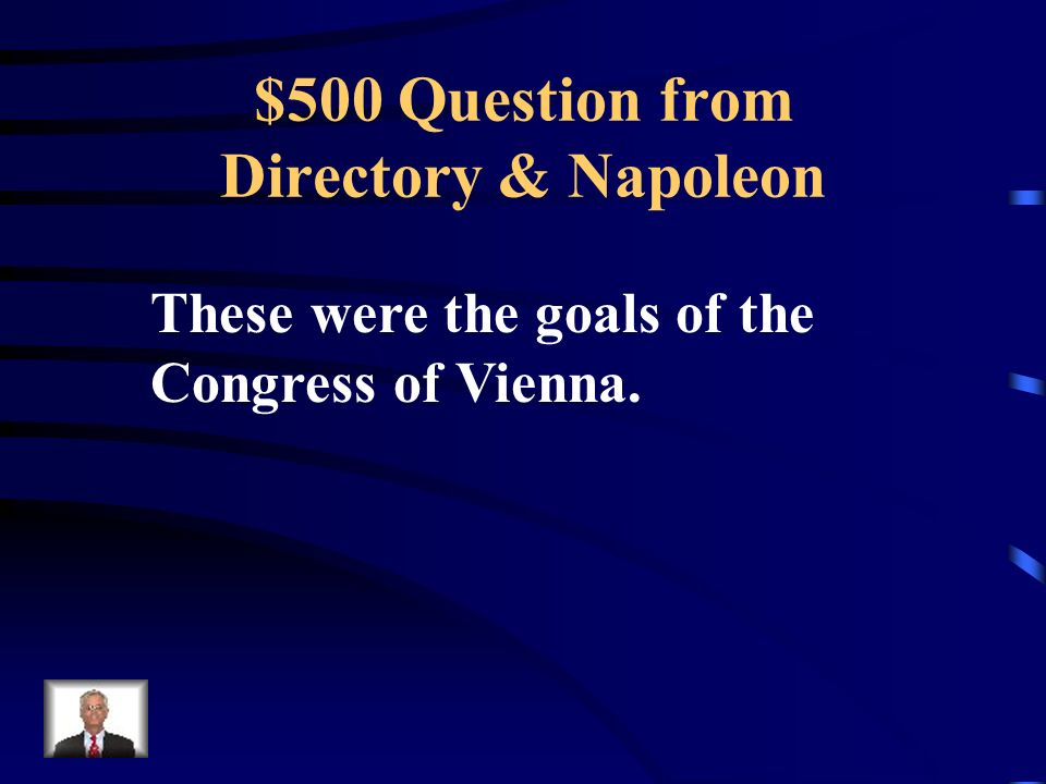 $400 Answer from Directory & Napoleon What was the Battle of Waterloo