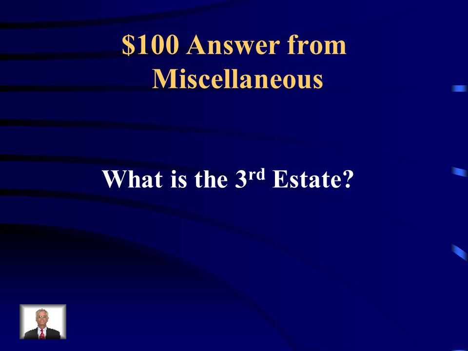 $100 Question from Miscellaneous Urban Workers belonged to this estate.
