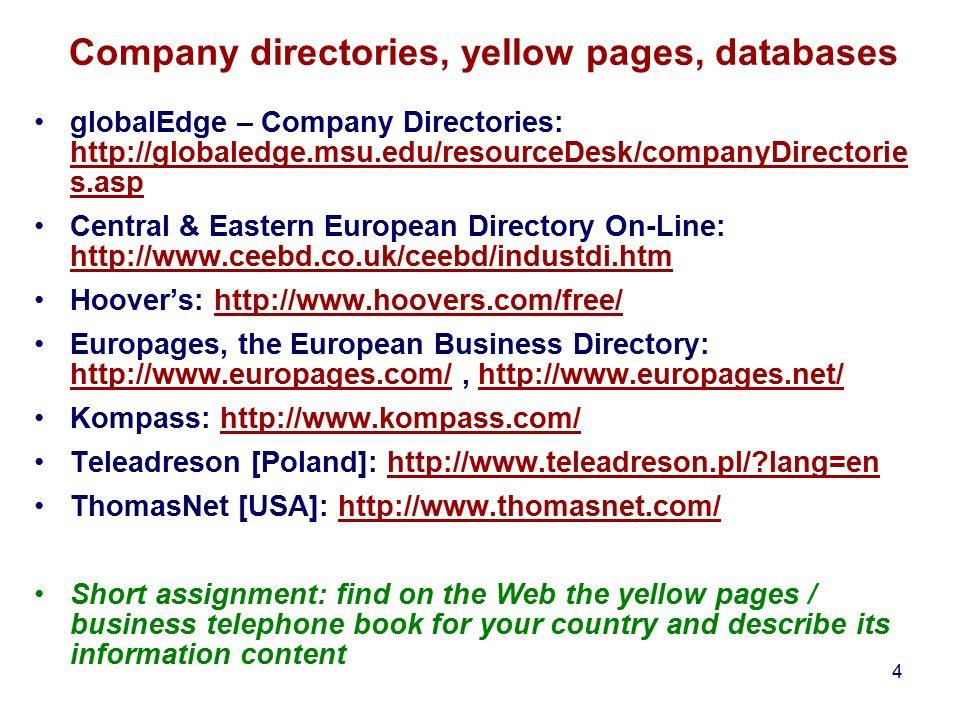 1 Business Information Module 2: Seeking for business