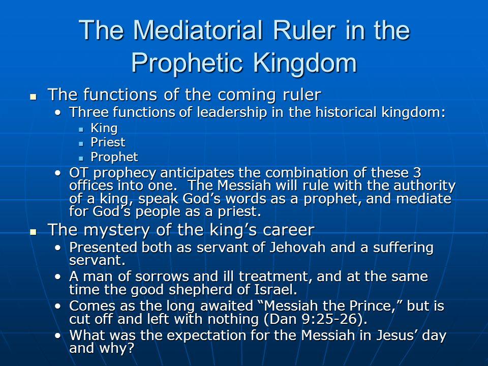 The Kingdom of God The Mediatorial Kingdom in Old Testament