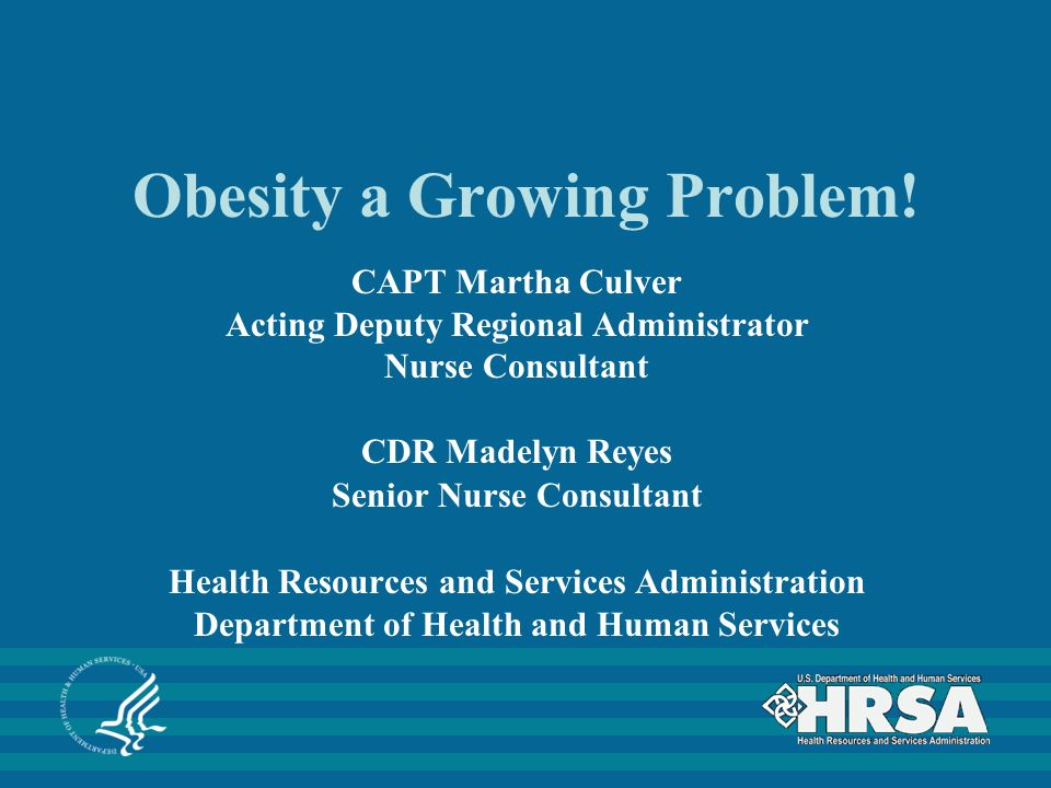 Obesity a Growing Problem.