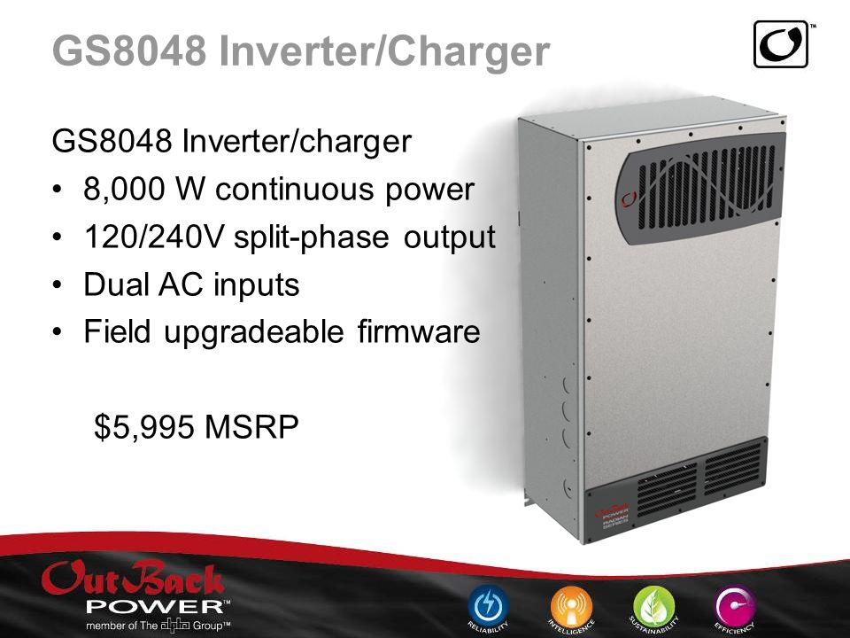 OutBack Power GS8048 Inverter/Charger Drivers PC