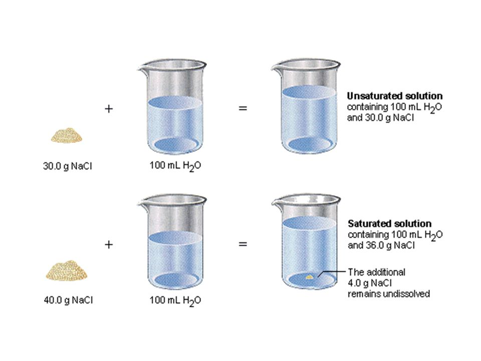 A solution that contains the maximum amount of dissolved solute is described as a saturated solution.