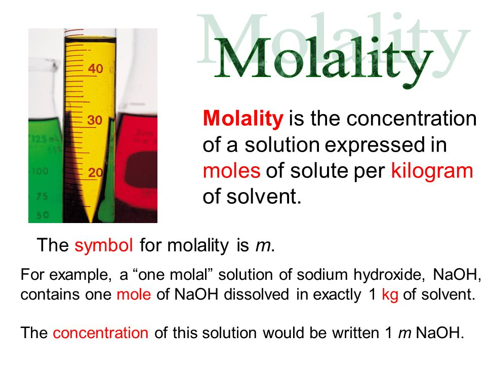 Note that a 1 M solution is not made by adding 1 mol of solute to 1 L of solvent.