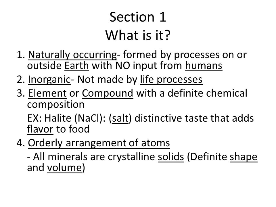 Section 1 What is it. 1.