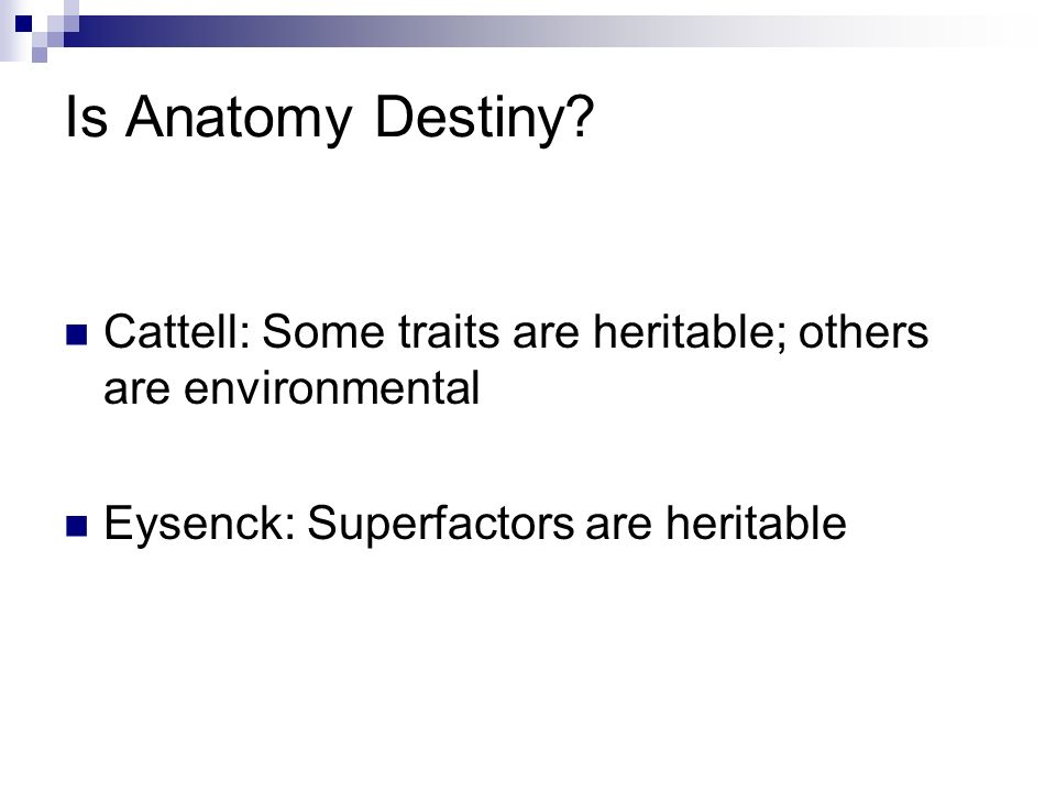 Cattell Eysenck Factor Analysis Statistics Technique
