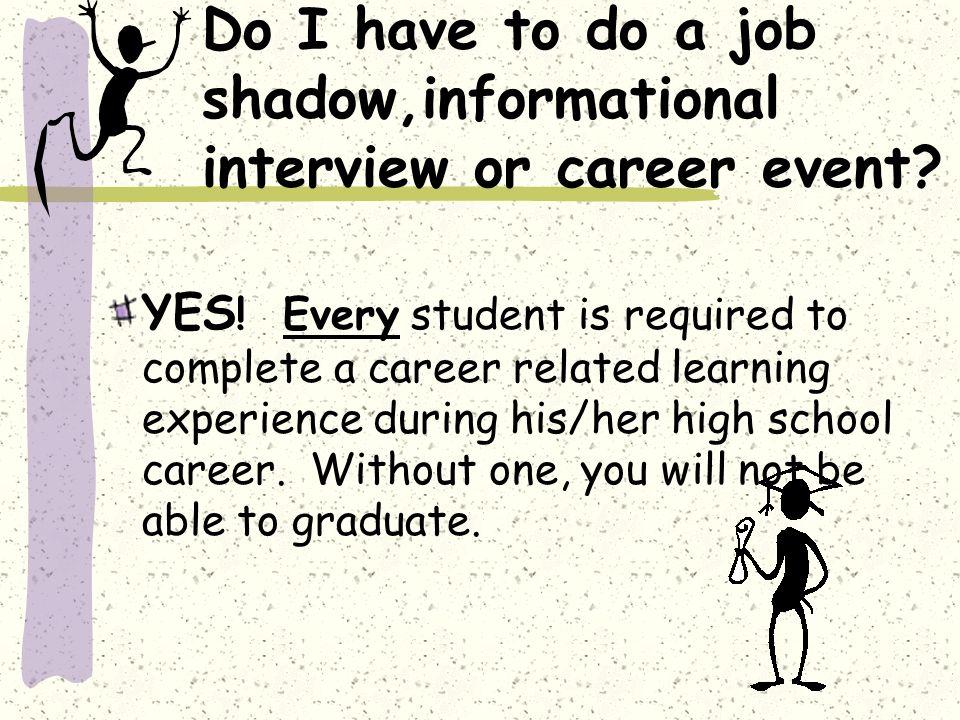 Career Related Learning Experiences Job Shadows JOB SHADOWS