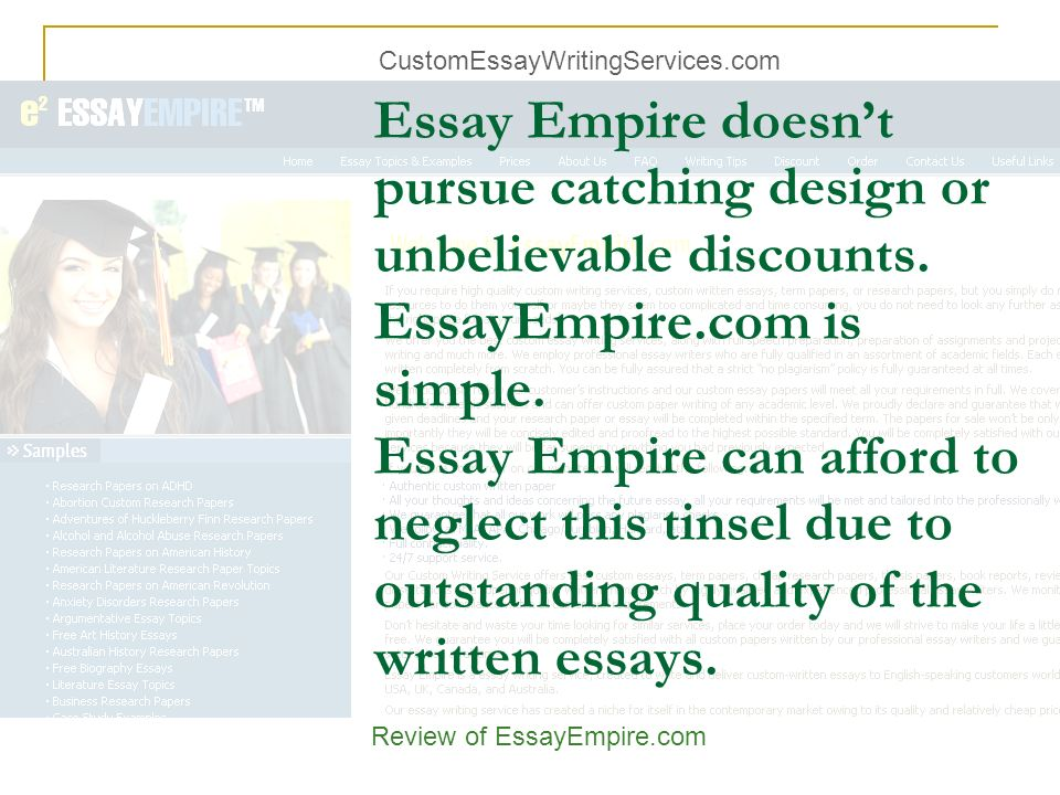 Health Issues Essay  Essay  Essay Thesis Statement also Essay Science Essayempirecom Custom Essay Writing Services Assess The Power Of  Persuasive Essay Examples For High School