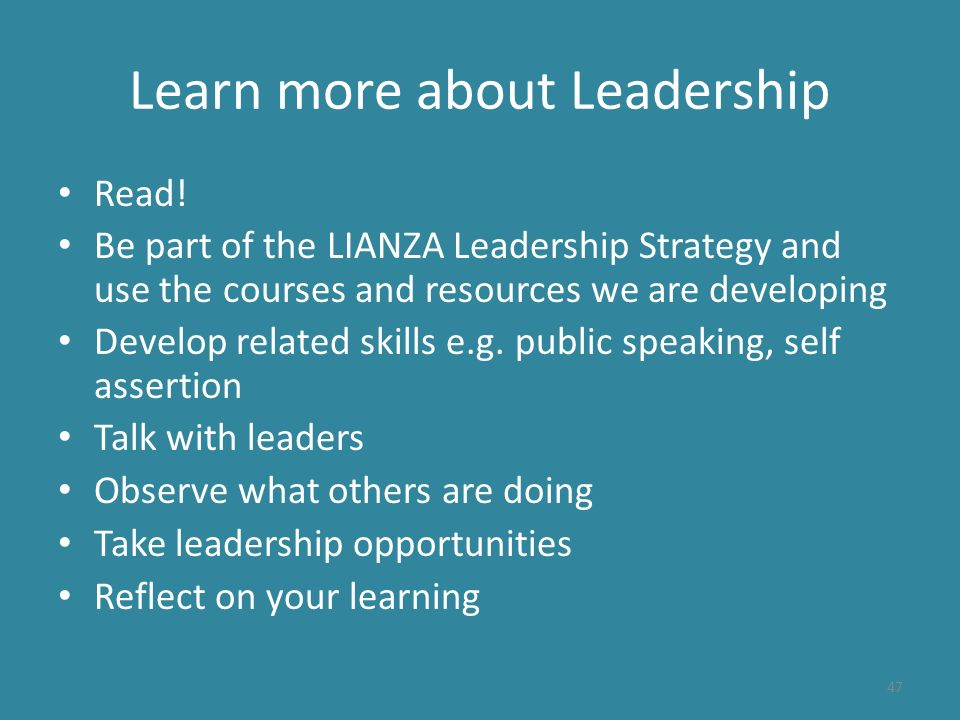 Learn more about Leadership Read.