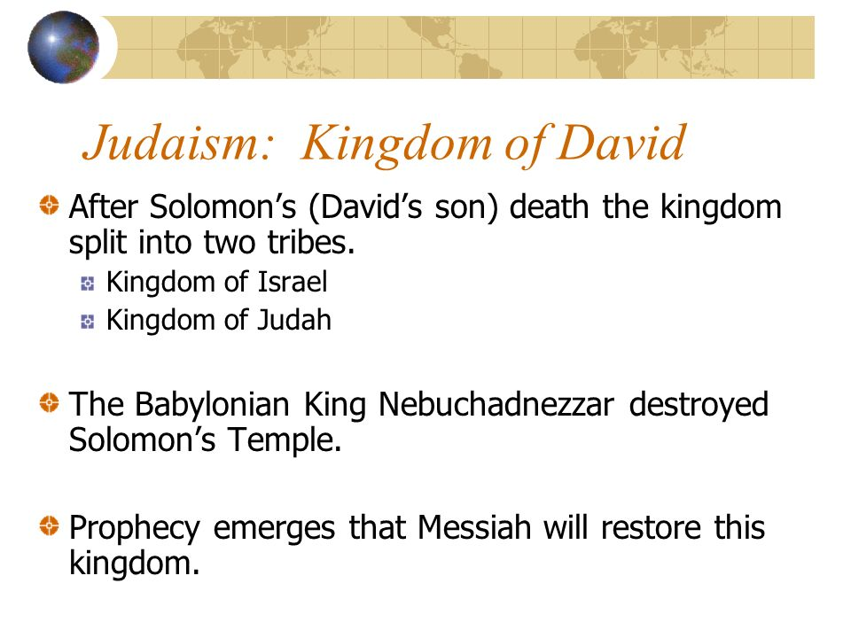 Judaism Jewish holy book is the Torah (the first five books of the Christian Bible or Old Testament).