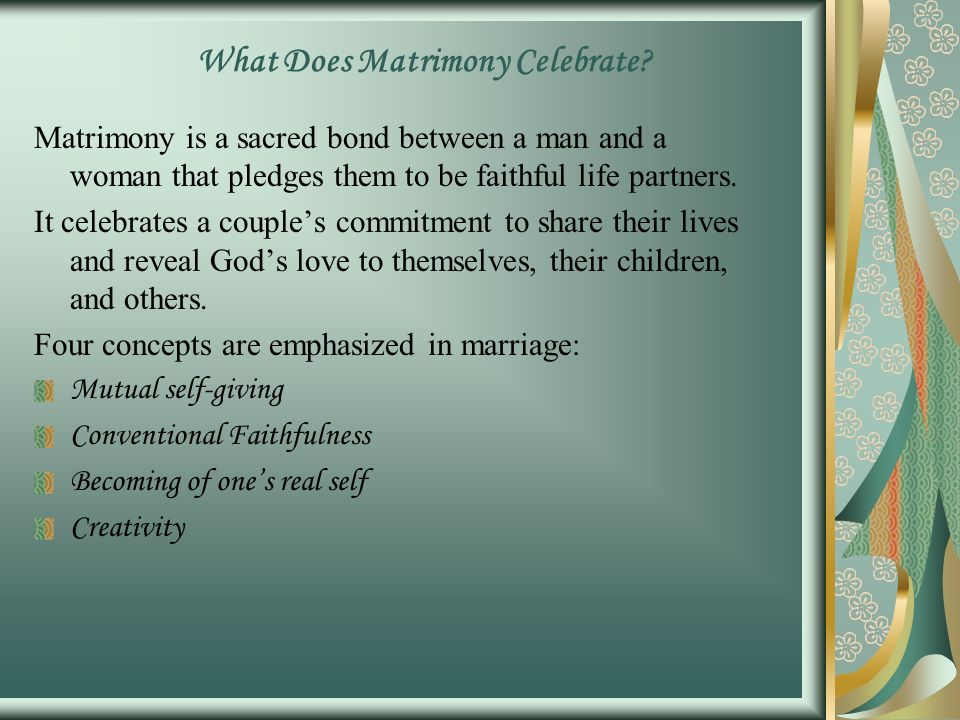 what does matrimony mean