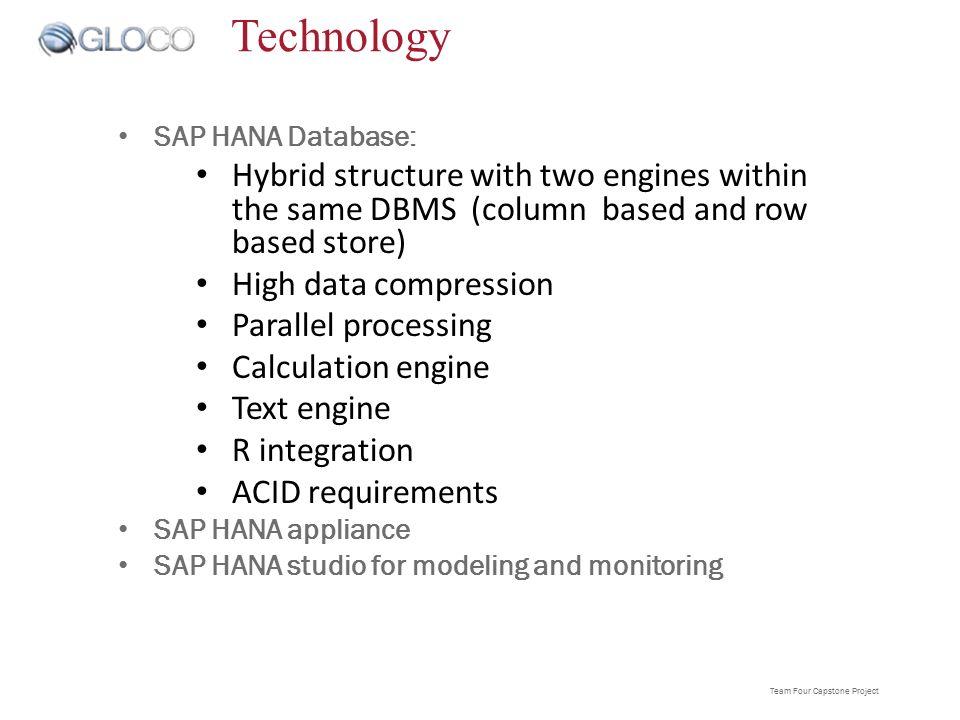 Data Analysis through SAP HANA TEAM4Solutions Capstone Presentation