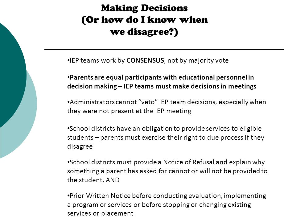 Parents As Equal Participants In Team >> Making Special Education Work Presented By Office Of The Education