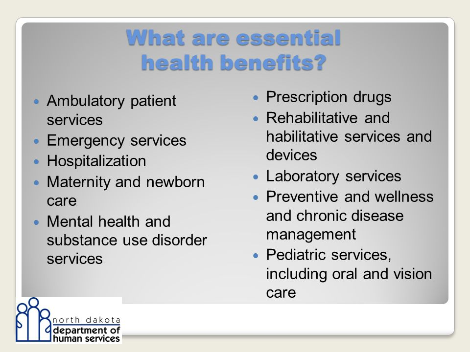 What are essential health benefits.