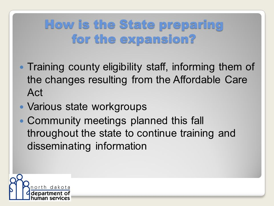 How is the State preparing for the expansion.